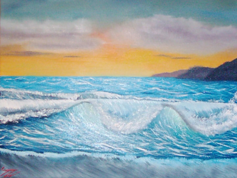 Keep Magic - Meer mit Sonnenuntergang