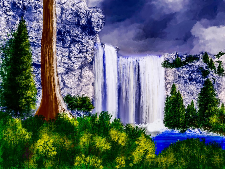 Keep Magic - Waterfall in the Mountains