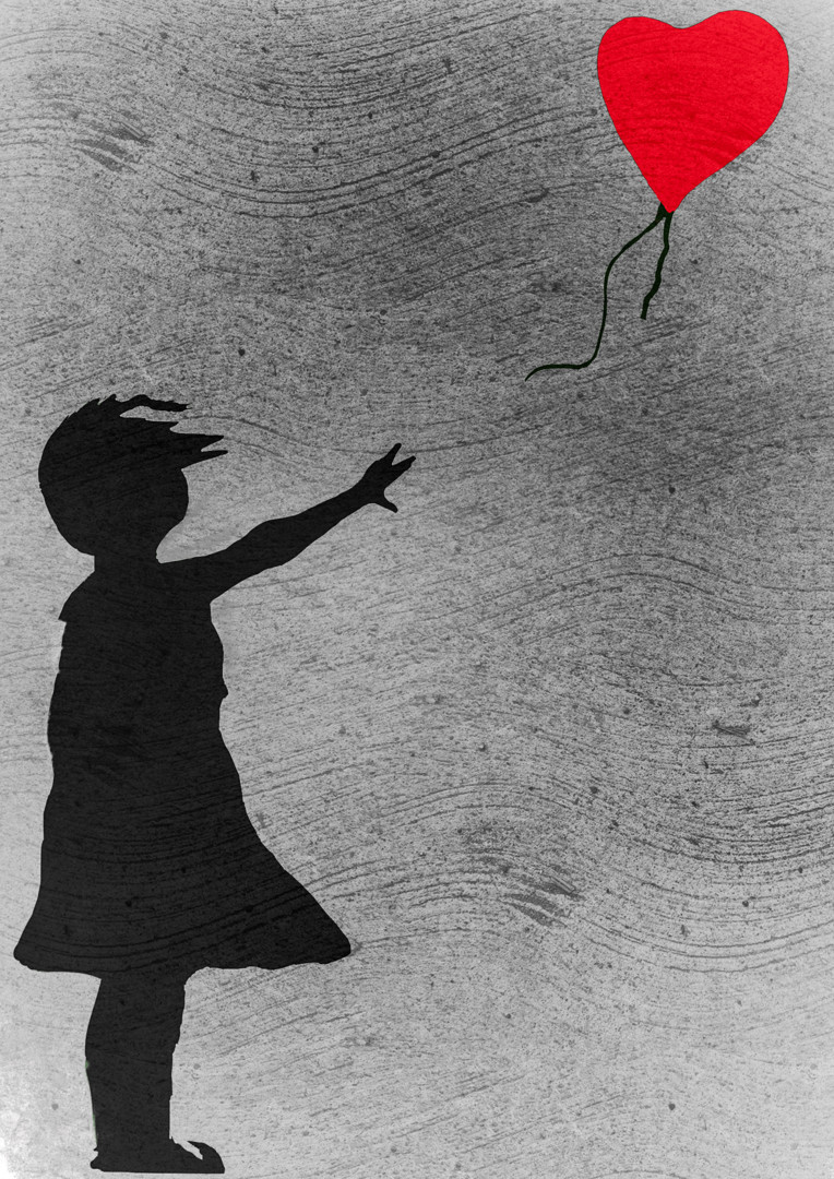 Keep Magic - Girl with balloon (a tribute to banksy)