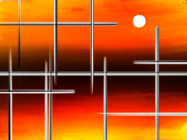 Sun behind Bars