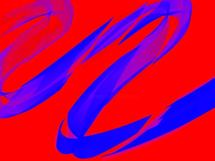 Keep Magic - Blue Snake in red Gras